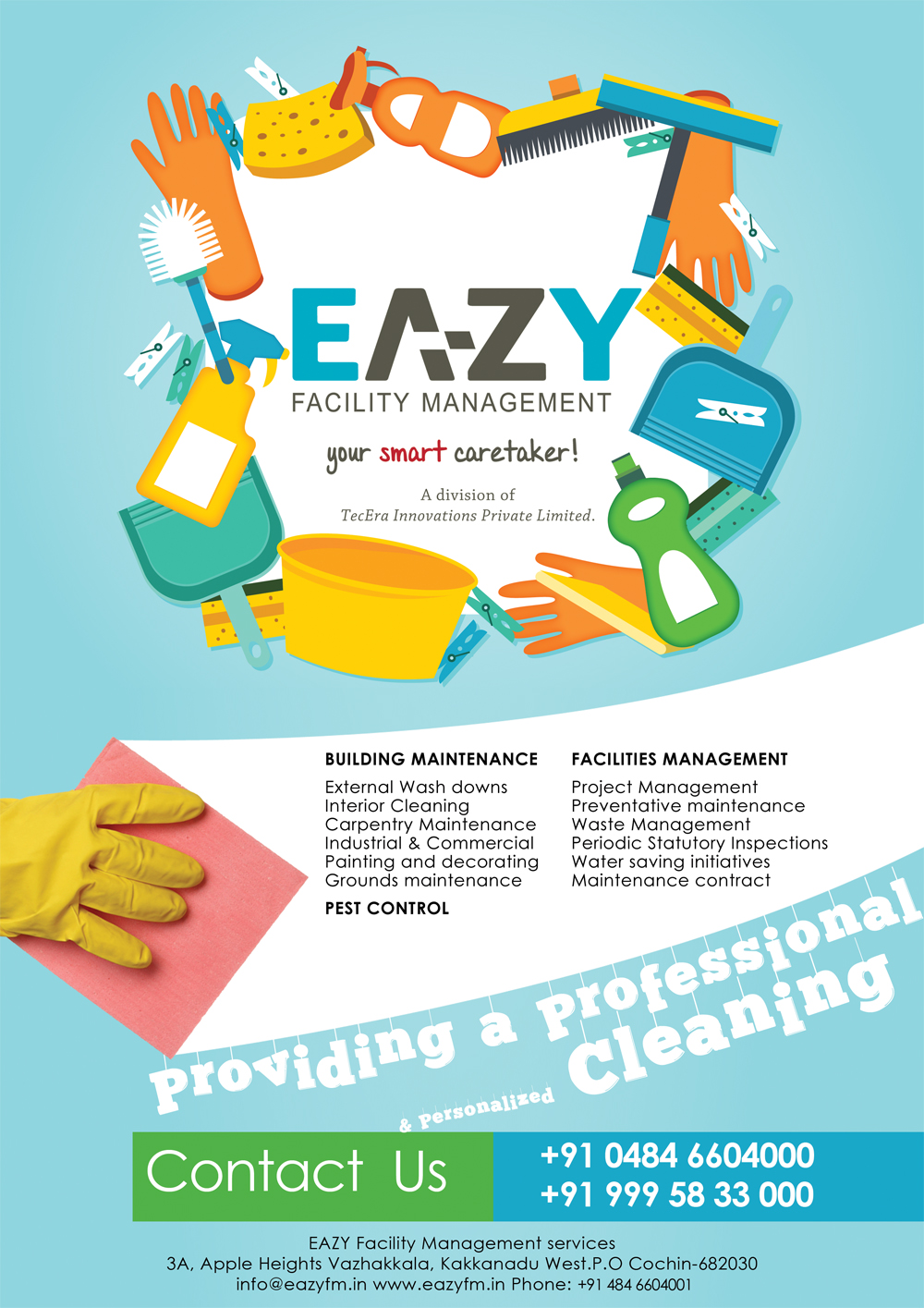 Excelsis deo web designers and mobile application for Ironing service flyer template